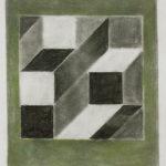 Serie Geometría Íntima 2004 Grafito y lápiz de color s/papel 28,5 x 23 cm.