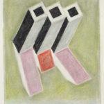 Serie Geometría Íntima 2004 Grafito y lápiz de color s/papel 29 x 23 cm.