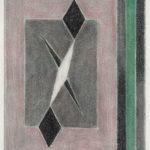 Serie Geometría Íntima 2004 Grafito y lápiz de color s/papel 30 x 23 cm.