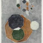 Serie Geometría Íntima 2005 Grafito y lápiz de color s/papel 29 x 23 cm.