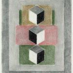 Serie Geometría Íntima 2005 Grafito y lápiz de color s/papel 28,5 x 23 cm.