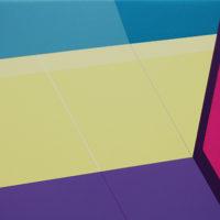 Sombra violeta 2017 Acrílico sobre lienzo 22 x 33 cm.